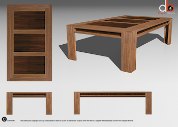 3D drawing of Lingfield dining Table