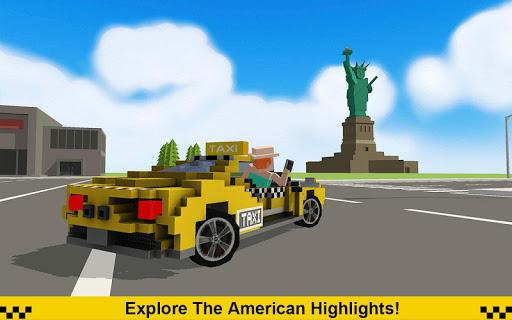 Crazy Taxi Driver: American Blocky Cab 1.4 screenshots 2