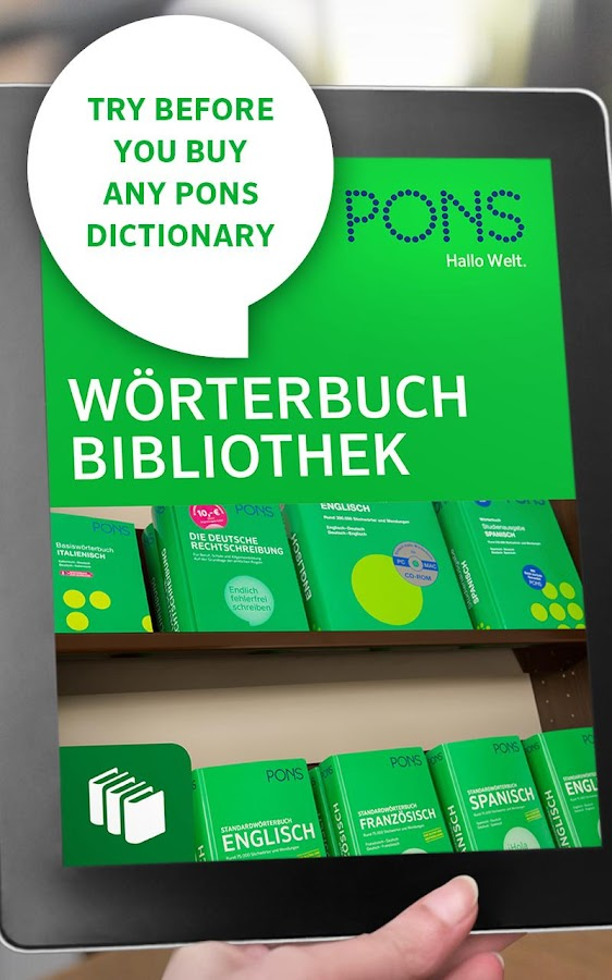 PONS Dictionary Library- screenshot