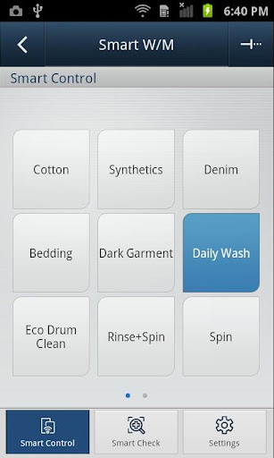 SAMSUNG Smart Washer/Dryer 2.1.38 screenshots 2