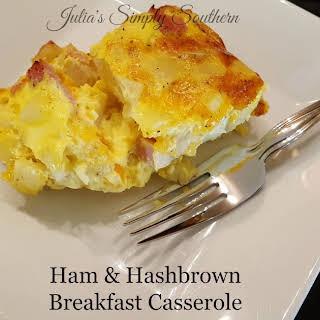 Ham & Hashbrown Breakfast Casserole.