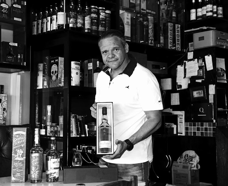 Whisky connoisseur Saverio Cardillo. Picture: FREDDY MAVUNDA