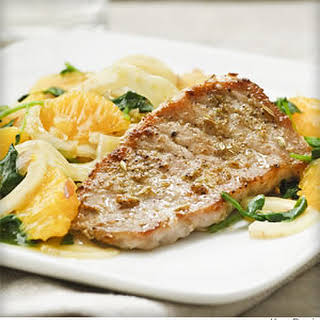 Pork Chops with Orange and Fennel Salad.