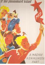 Photo: Combattons pour notre avenir Parti communiste hongrois (Affiche signée Gitta Mallasz 1945)
