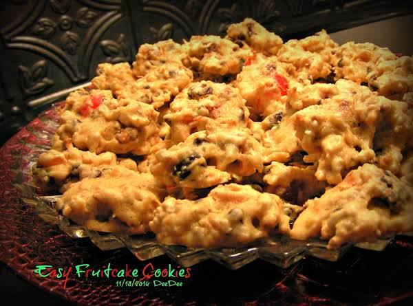 Easy Spirited Fruitcake Cookies Recipe