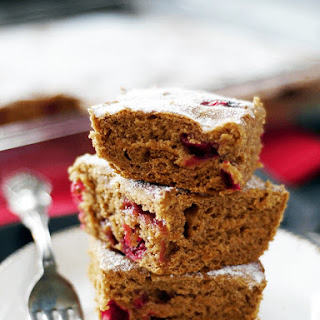 Gluten-Free Vegan Fresh Cranberry Cake {Refined Sugar-Free}