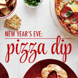 New Year's Eve Pizza Dip
