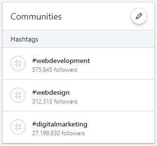 Featured Hashtags on LinkedIn.