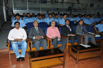 Photo: CSI Mumbai Chapter officials at the Monsoon Session of Naval Knowledge Sharing Lecture Series on 27 August 2012
