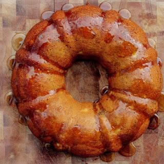 Glazed Honey Apple Bundt Cake