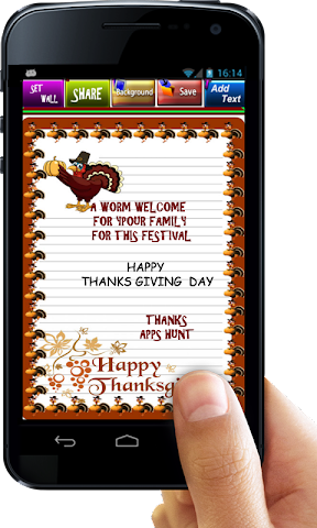 android Thanksgiving Invitation Letter Screenshot 3