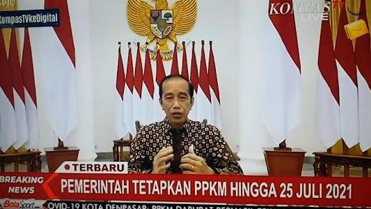 PPKM Darurat Resmi Diperpanjang, Jokowi Tambah Anggaran Perlindungan Sosial Rp 55,21 T - Tribunnews.com
