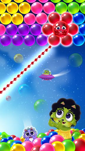 Space Cats Pop - Kitty Bubble Pop Games apktram screenshots 3