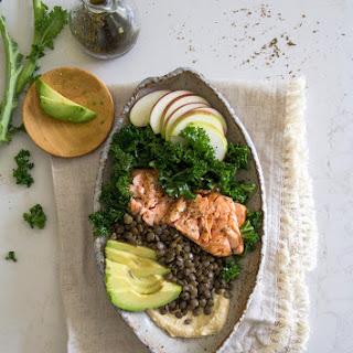 Za'atar and Hummus Salmon Lentil Salad.