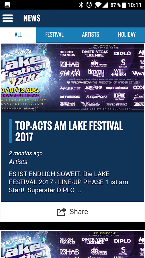 Lake Festival – Screenshot