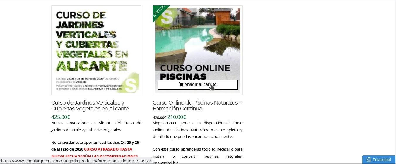 Añade al carrito el curso online de piscinas naturales