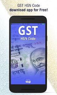 GST HSN Code & Tax Rate Finder - náhled