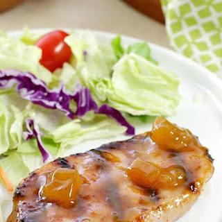 Dijon-Peach Pork Chops Recipe