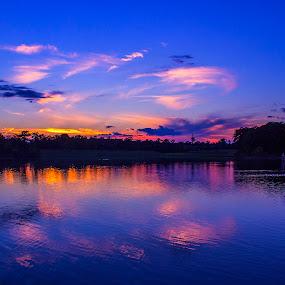 Cooper Creek Park at Sunset by Thomas Vasas - Landscapes Sunsets & Sunrises ( sunsets, scenics, travel, landscapes,  )
