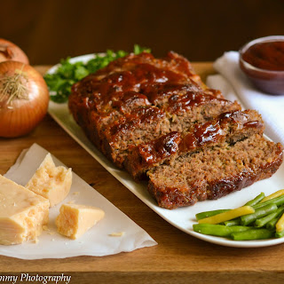 Cheesy Barbecue Meatloaf.