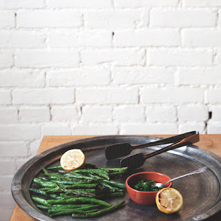 Broiled Green Beans with Roasted Lemon Gremolata