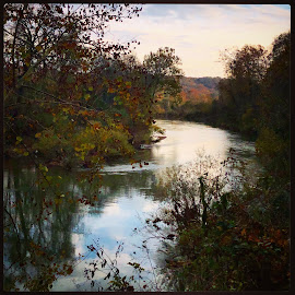 Narrows on the Harpeth by Mary Phelps - Instagram & Mobile iPhone ( square, tennessee, fall, sunset, harpeth river, harpeth, river, instagram, iphone )