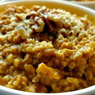 Crock-Pot Pumpkin Pie Oatmeal.