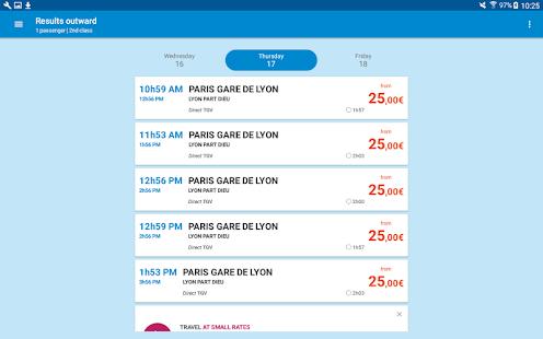 Voyages-SNCF Screenshot 10