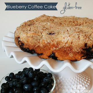 Blueberry Coffee Cake {Gluten-Free} Recipe