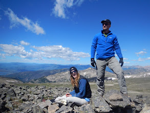 Photo: Steph and Bill on Hallett Peak. Photo courtesy of Bill Walker