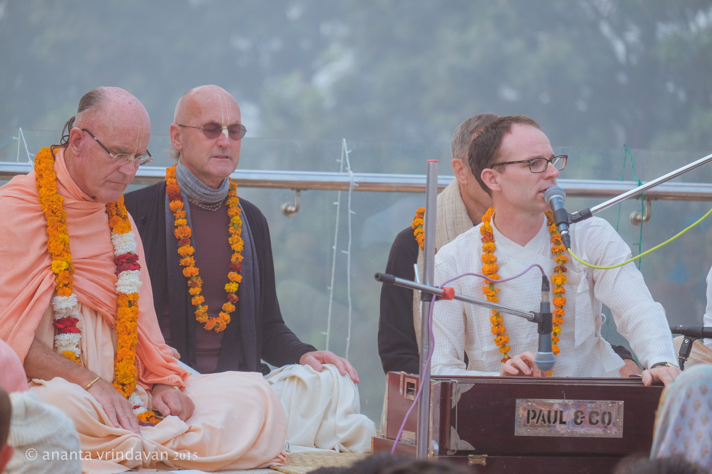HH Indradyumna Swami with SriPrahlada Prabhu at Kurukshetr