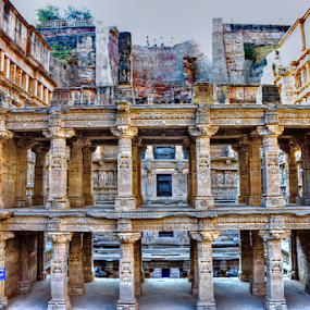 step well by Ashutosh Singhvi - Buildings & Architecture Decaying & Abandoned ( ancient, step well, india, world heritage, historic )