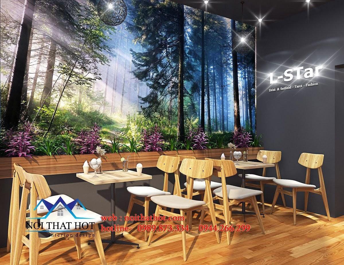 thiết kế quán cafe kết hợp shop thời trang 5
