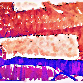 Ticky-Tacky VII by Allen Crenshaw - Painting All Painting ( abstract, impressionistic, colors, art, enhanced, digital, painting )