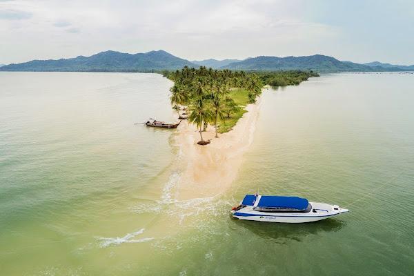 Swim at a deserted sand-spit beach on Koh Yao Yai