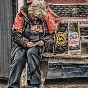 Unlucky card by Cornish Nige  - People Street & Candids ( cars, hdr, male, street photography, shopping )