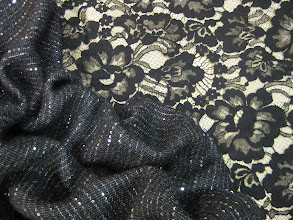 Photo: Ткань :Шанель с кашемиром ш.140см. цена 10000руб. Кружево ш.110см. цена 6000руб.