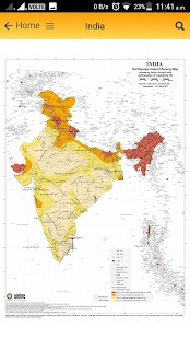 Earthquake Hazard Map of India - náhled