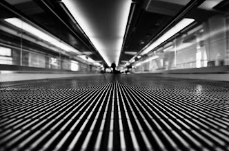 Photo: All roads lead to Rome SFO International, San Francisco, CA. 2011.  I've always been impressed by how different this terminal feels depending on wether you are leaving, or coming home. This time I was leaving, on my way to Paris.  This photo was inspired by +Thomas Hawk who has a very similar image from a different walkway at SFO.   #Paris2011_RicardoLagos