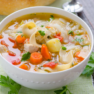Chicken Noodle Vegetable Soup.