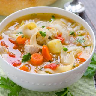 Chicken Noodle Vegetable Soup.