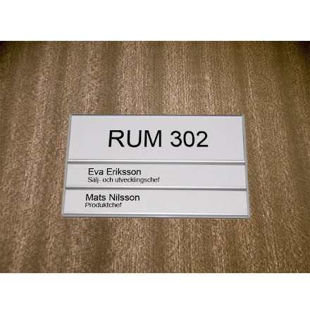 Rumsskylt 2-panel 204x62+31+31mm