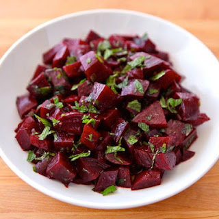 Roasted Beet Salad with Mint.