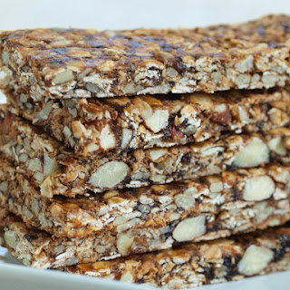 Easy Homemade Fruit, Nut, and Seed Granola Bars.