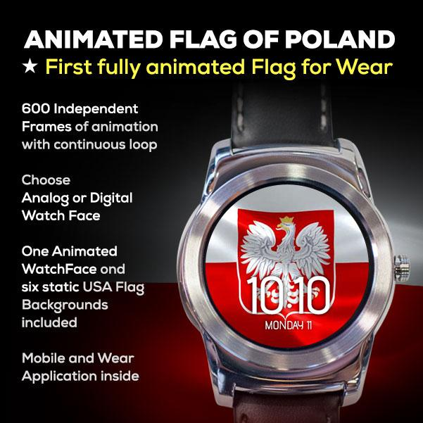 Animated Polish Flag Watchface- screenshot