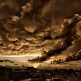 look by Paulo Rodrigues - Landscapes Cloud Formations ( sky, cidade, roma, color, city, bairro, exterior, local, nature/natureza, céu, cloud, capture one, italia, parioli, núvem, photo/foto, neighbourhood, xt-1, fuji )