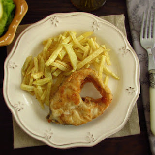 Fish and chips 'Portuguese style'.