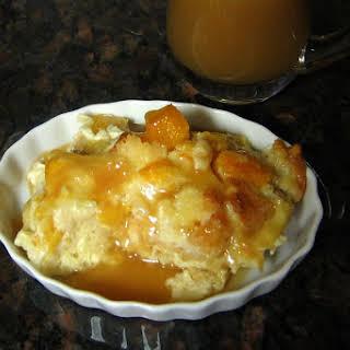 Peach Custard Bread Pudding.