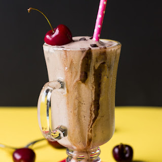 Spiced Chocolate Banana Frozen Kefir Slushie.