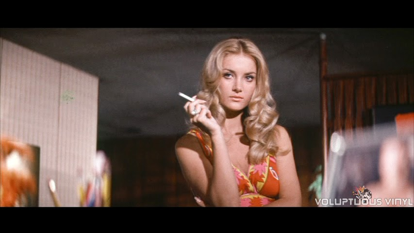 Barbara Bouchet smoking hot and smoking a cigarette in Stoney.